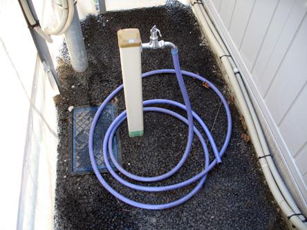 水道完備 洗車スペースもあるので水洗いOK