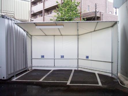 屋根付き駐車スペース
