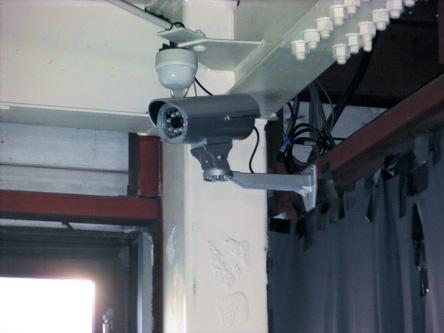 24時間場内監視録画カメラ