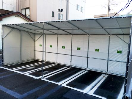 東松本 テントタイプ屋根付き
